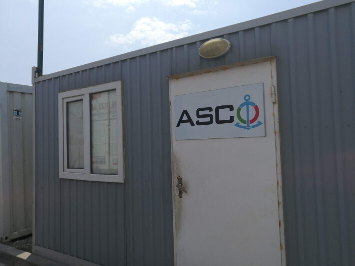 ASCO ticket office at Alat Port
