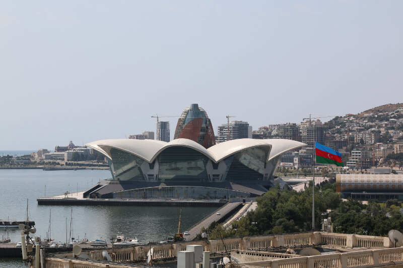Caspian Waterfront Mall seen from the Maiden Tower