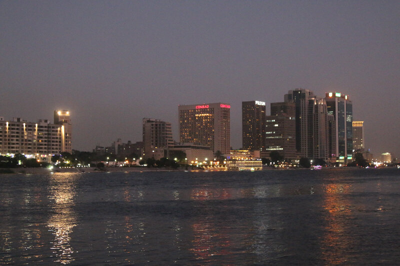 Views across the Nile from Zamalek