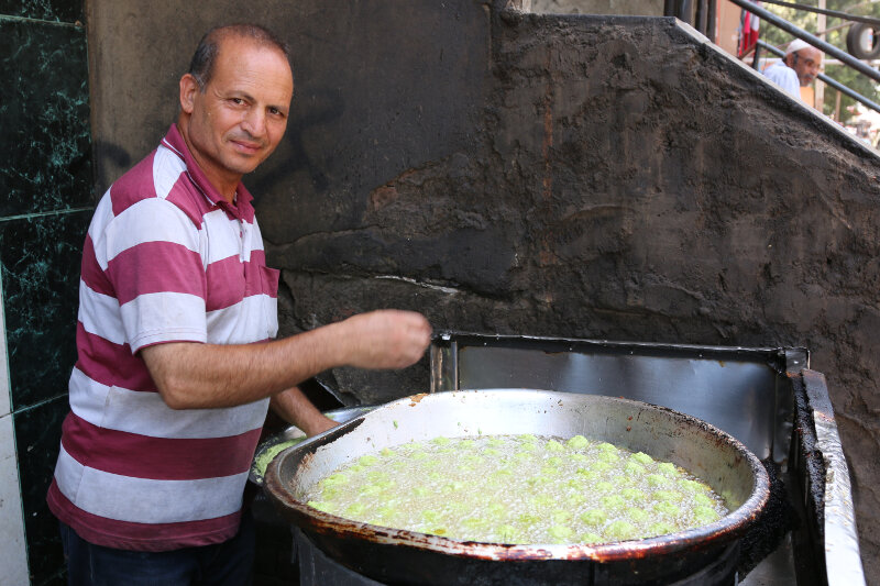 Falafel (or ta'ameya as it is known in Cairo)