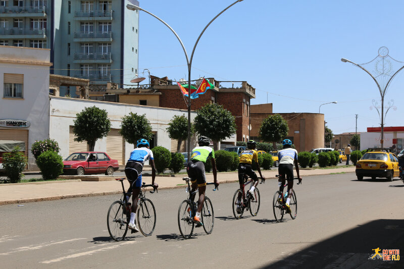 Cyclists in Asmara